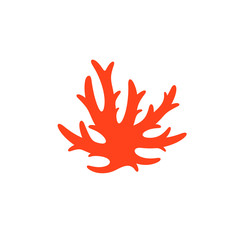 Red coral. Vector illustration