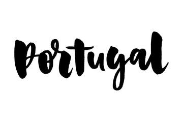 slogan Happy holidays in portugues. Boas Festas. Lettering. Hand drawn vector illustration. Modern calligraphy.