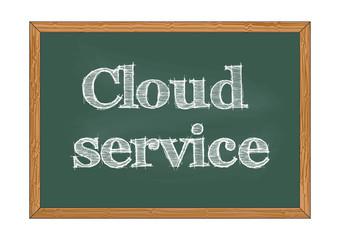 Cloud service chalkboard notice Vector illustration for design