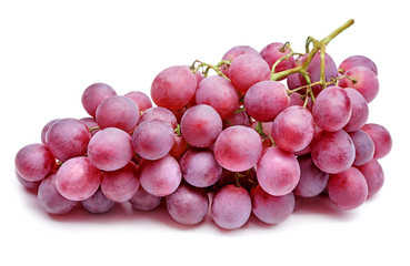 bunch of red grapes isolated on white Fototapete