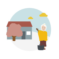 Oma auf Reisen