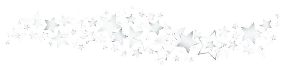 Shining Silver Stars Border
