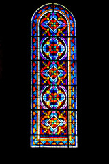 Beaugency. Vitrail de l'abbatiale Notre-Dame. Loiret. Centre-Val de Loire