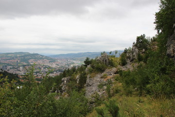 Sarajevo is the capital and largest city of Bosnia and Herzegovina.  Sarajevo, Bosnia and Herzegovina 08.06.2017