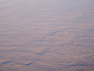 Desert landscape in Uzbekistan, aerial view