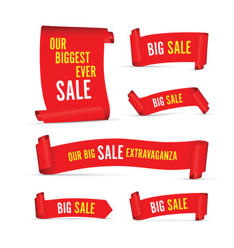 Our big sale set of red banners