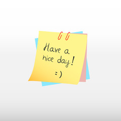 Have a nice day message.