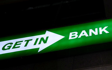 Logo of Getin Noble Bank is seen on their branch in Warsaw