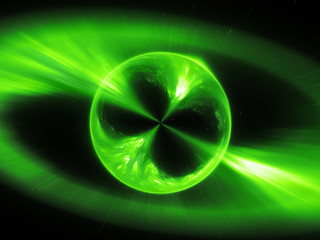 Green mysterios object in space gamma ray burst