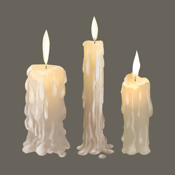 Illustration of candles icon vector for Halloween