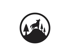 Wolf logo vector illustration