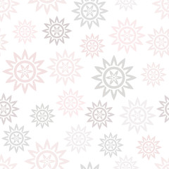 Seamless pattern with abstract flowers. Vector illustration.