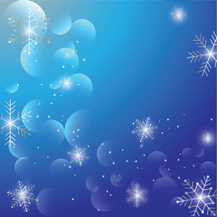 Celebrate Christmas Greetings With Shiny Snowflakes In The Air Blue Background Templates
