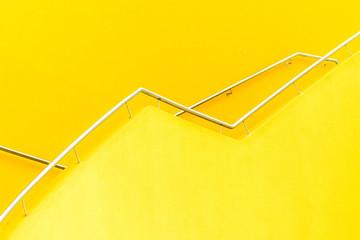 yellow, orange railing