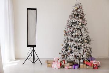 Christmas tree photo new year holidays gifts