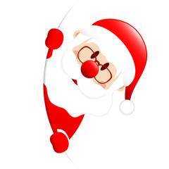 Santa Banner Round