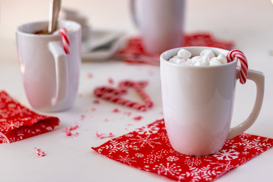 hot chocolate at christmas time