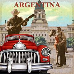 Argentina  retro poster.