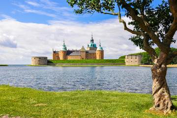 Kalmar castle on a sunny summer day, Sweden.