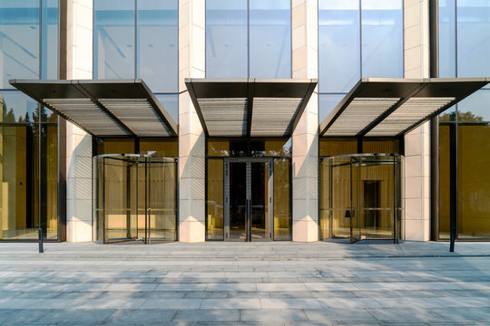 Glass doors for modern architecture..