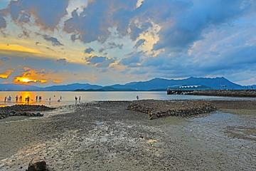 sunset of Coastline Ma On shan