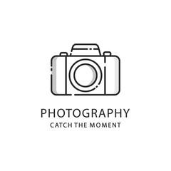 Photography logo sign. Photo camera emblem
