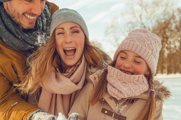Familie Winter spaß