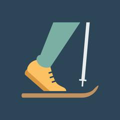 Silhouette icon skier