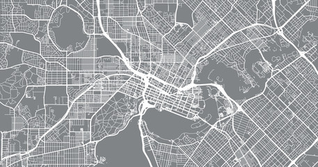 Urban vector city map of Perth, Australia