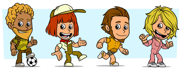 Cartoon funny boy and girl characters. Vol. 4
