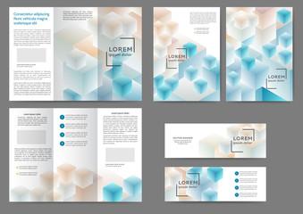 Brochure geometriс set