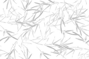 Seamless graphic hand drawn bamboo pattern