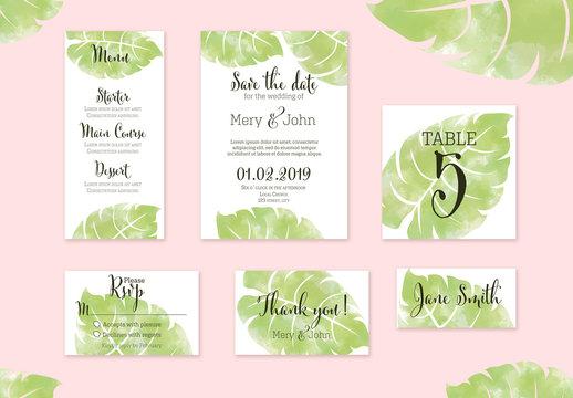 Wedding Invitation Layout Set