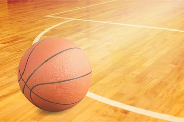 Orange Basketball ball on  background