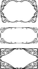 A set of decorative frames in art nouveau style