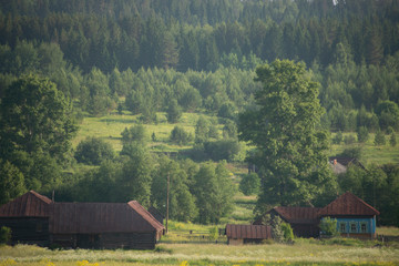 rural  landscape of Russian Ural
