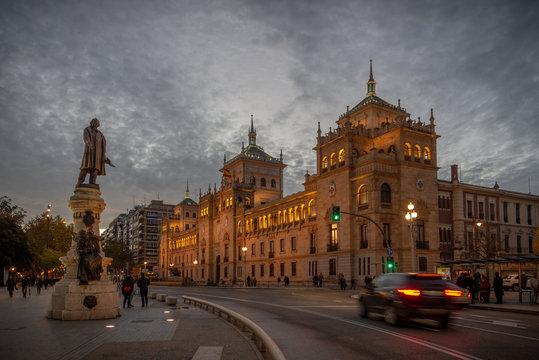 Academia de caballería, Valladolid en España .