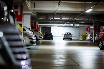 Underground parking / garage with huge arrange of cars