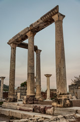 Part of temple in Ephesus, Turkey. The ancient city is listed as a UNESCO World Heritage Site.
