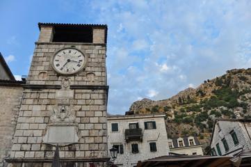 Clock tower in Kotor