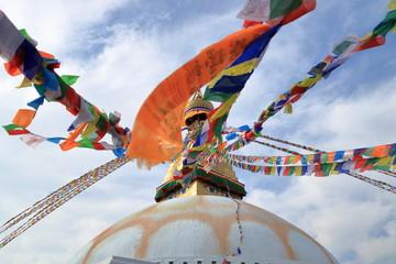 View of Boudhanath Stupa in Kathmandu, Nepal