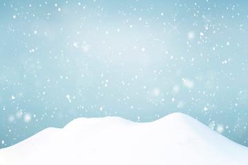 Snowy sky in winter