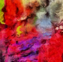 Detailed close-up grunge multi color abstract background. Dry brush strokes hand drawn oil painting on canvas texture. Creative simple pattern for graphic work, web design or wallpaper.