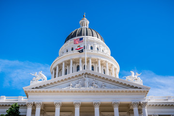 The dome of the California State Capitol, Sacramento, California