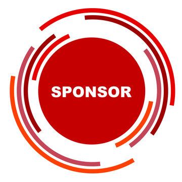 red vector banner sponsor