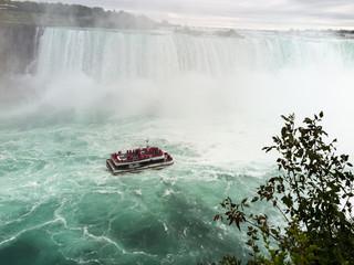 Niagara Falls with tourist boat
