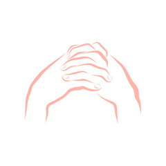 Hands of a praying woman, repentance or thanksgiving to God