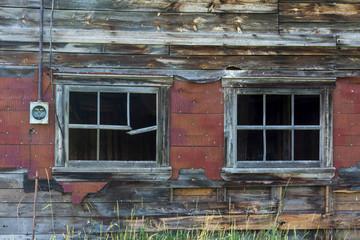 windows in an old barn