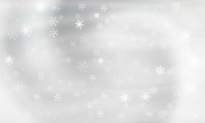 Gray background with snowflakes. Vector. winter background