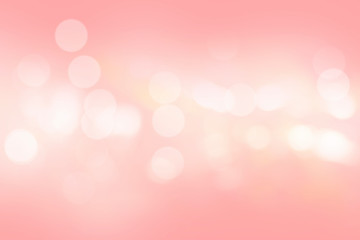 Pink bokeh blurred abstract for background Wall mural